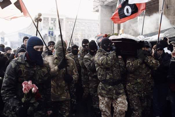Militant Group Right Sector Ukraine